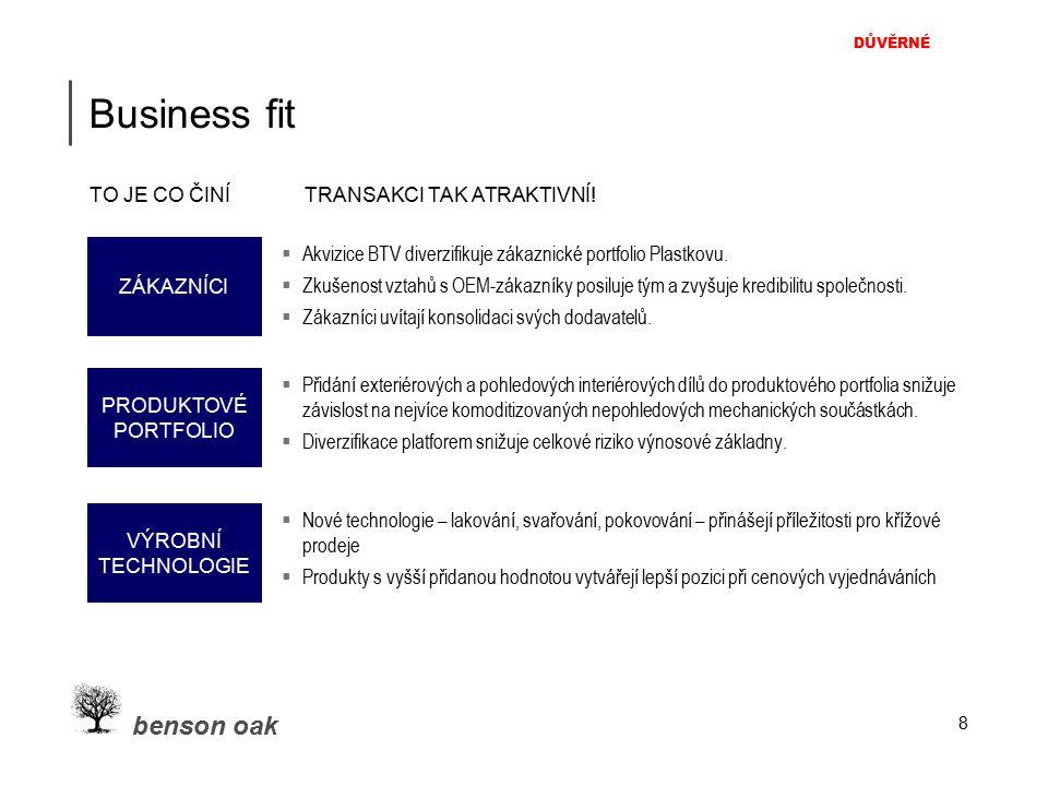 DŮVĚRNÉ benson oak Business fit TO JE CO ČINÍ TRANSAKCI TAK ATRAKTIVNÍ.