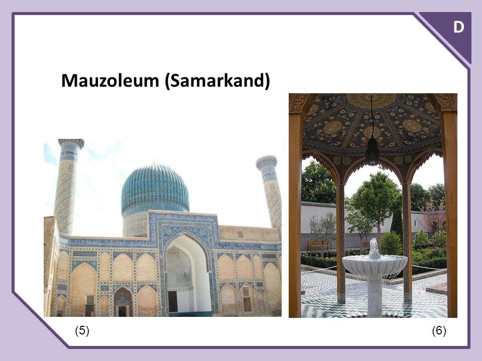D Mauzoleum (Samarkand) (5)(6)
