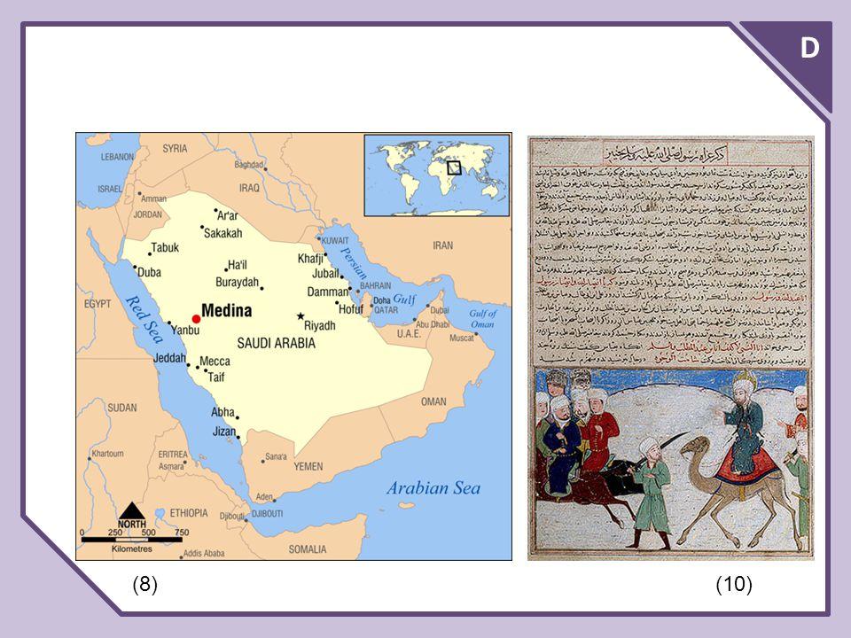 D Vyznavači islámu se nazývají muslimové.Posvátnou knihou muslimů ke korán.