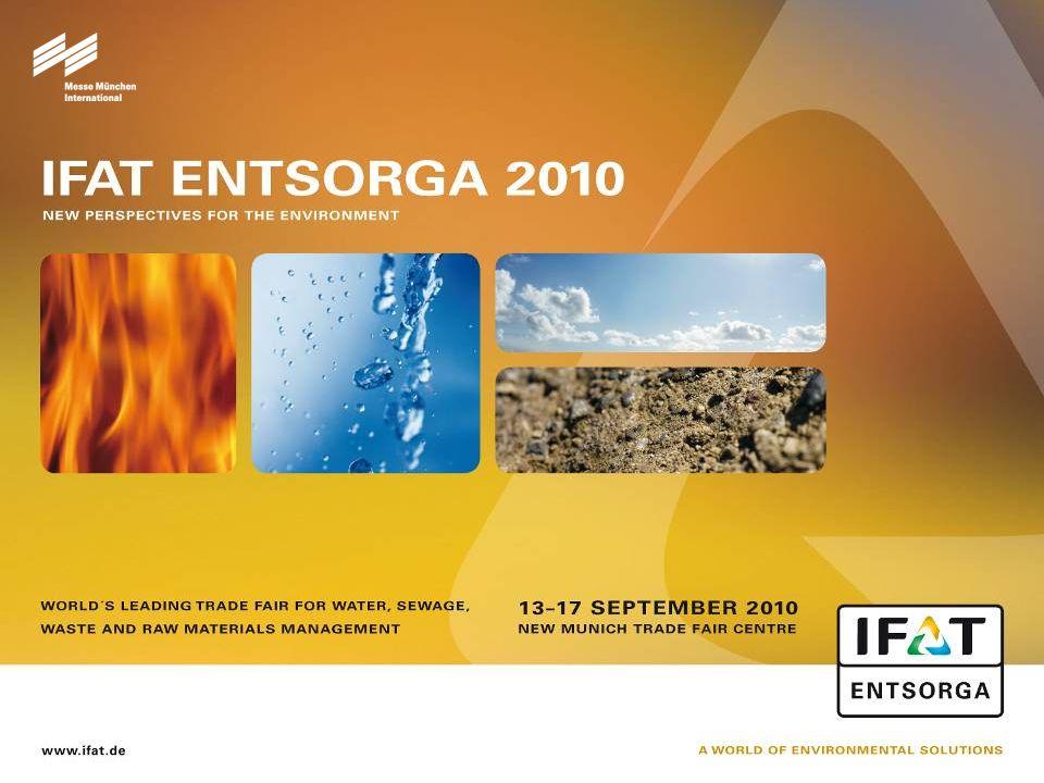 12 IFAT ENTSORGA 2010 – Cílové skupiny návštěvníků  Komunální služby, zpracování odpadu  Další veřejné a privátní podniky z environmentálního sektoru  Průmyslové podniky  Služby  Obchod  Ministerstva, úřady a veřejná správa  Svazy, instituce, univerzity, vysoké školy