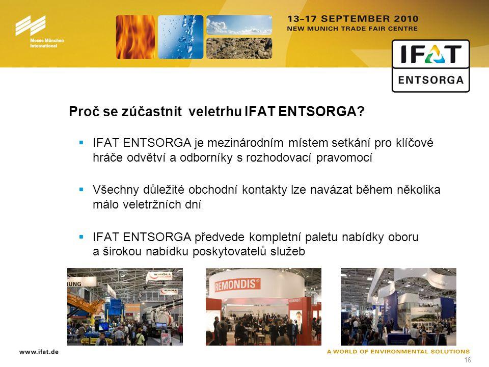 16 Proč se zúčastnit veletrhu IFAT ENTSORGA.