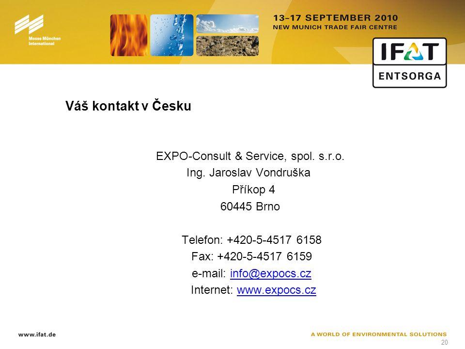 20 Váš kontakt v Česku EXPO-Consult & Service, spol.