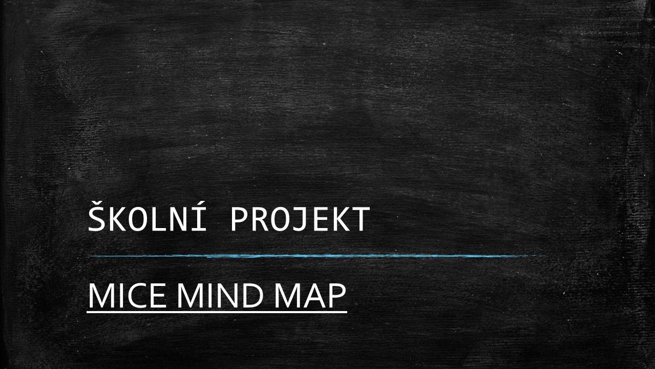 ŠKOLNÍ PROJEKT MICE MIND MAP