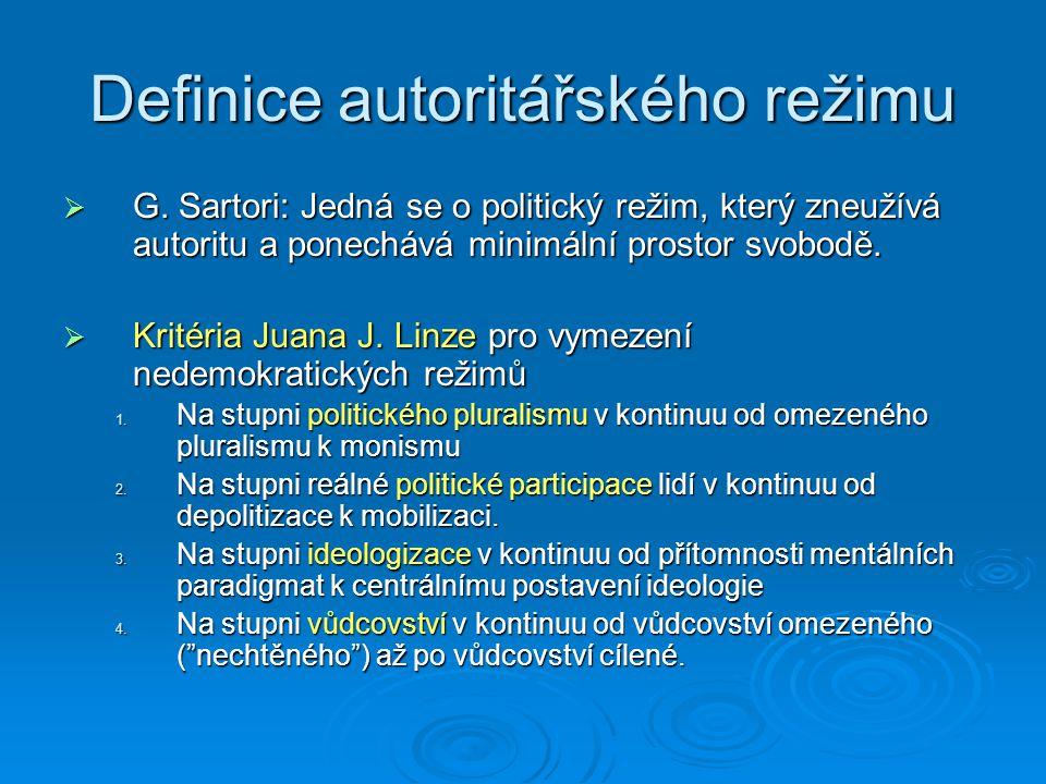 Definice autoritářského režimu  G.