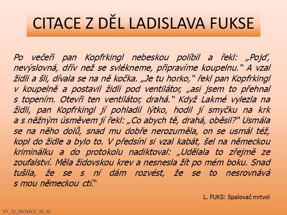 ADAPTACE DĚL LADISLAVA FUKSE Filmy: Spalovač mrtvol (1968, r.