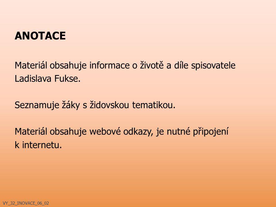 VYSVĚTLIVKY Materiál obsahuje tyto ikony: – studenti se sami snaží vysvětlit pojem/pojmy – webový odkaz – webový odkaz pouze pro novinová vydavatelství – odkaz na film, filmovou ukázku, hudbu VY_32_INOVACE_06_02