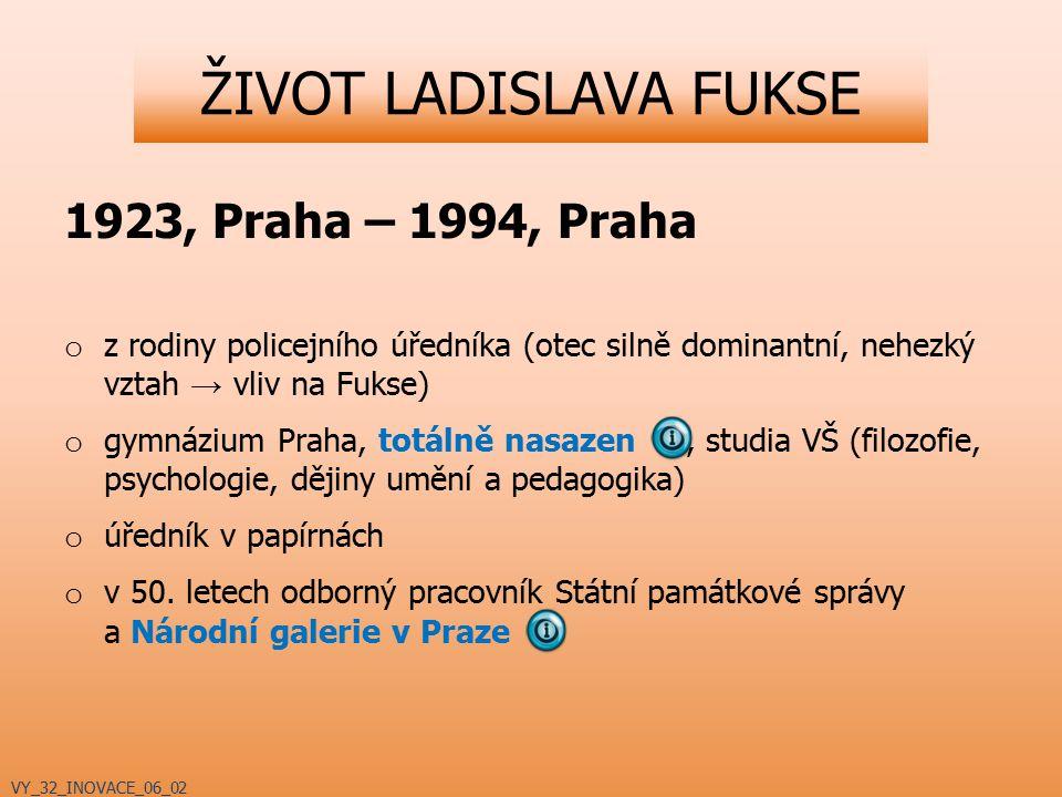 ŽIVOT LADISLAVA FUKSE o v 60.letech začal literárně tvořit o v 70.