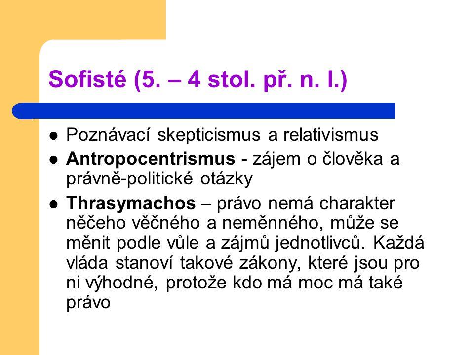 Sofisté (5. – 4 stol. př. n.