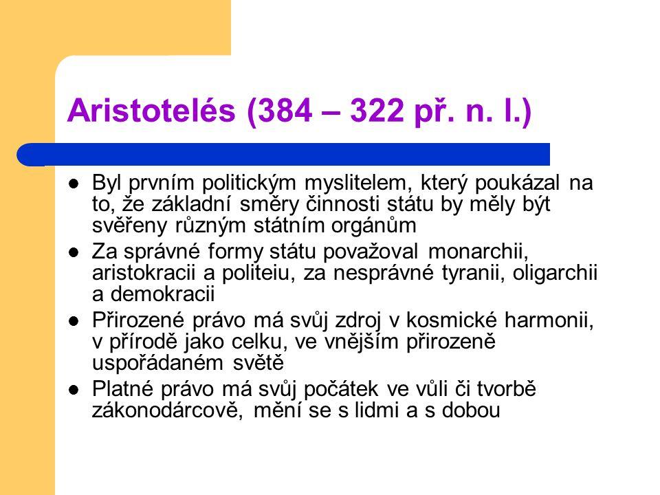 Aristotelés (384 – 322 př. n.