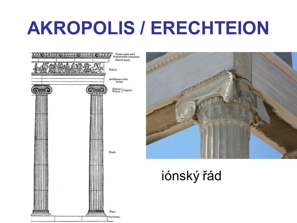 AKROPOLIS / ERECHTEION iónský řád