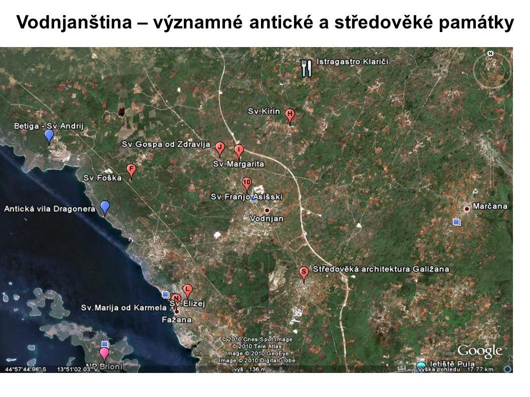 Peroj - Dragonera,pozůstatky antické vily na břehu moře (1.- 7.stol.) Vodnjanština - Peroj