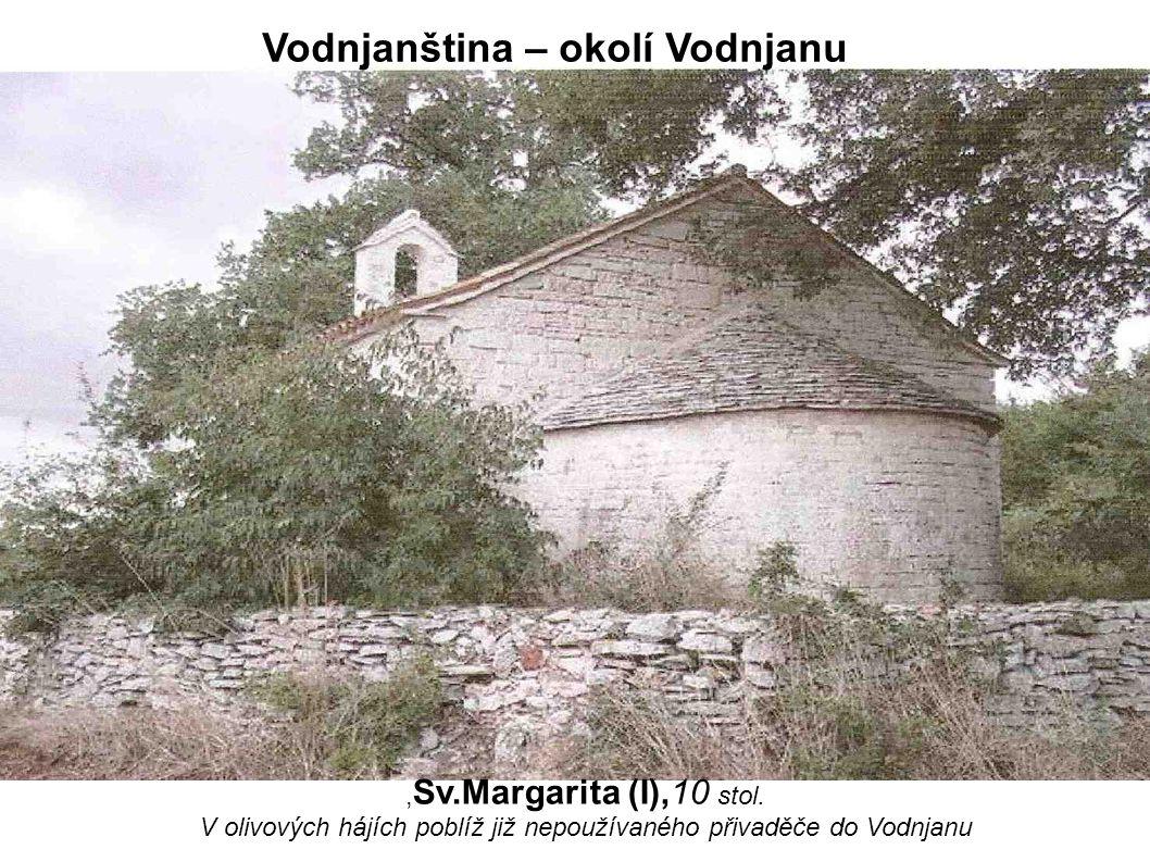 , Sv.Margarita (I),10 stol. V olivových hájích poblíž již nepoužívaného přivaděče do Vodnjanu Vodnjanština – okolí Vodnjanu