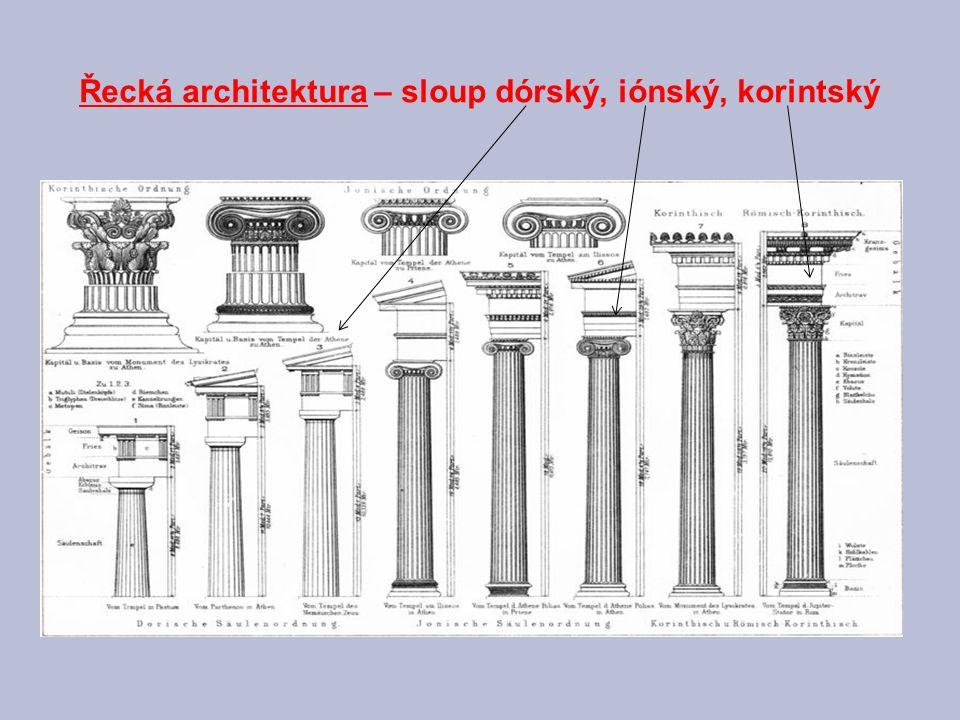 Řada korintských sloupů chámu v syrské Palmyře