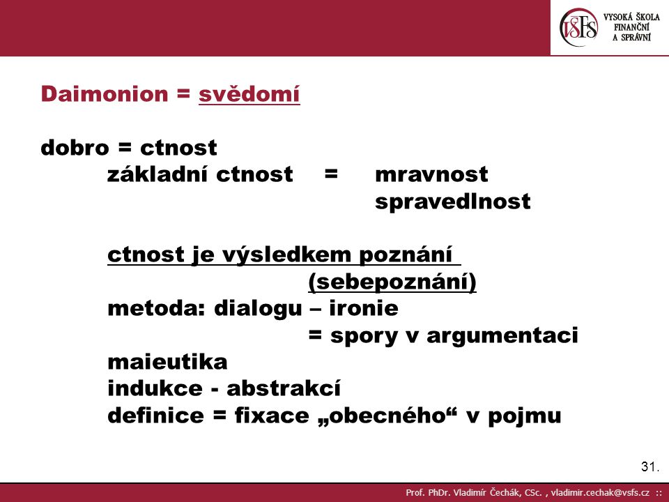 31.Prof. PhDr.