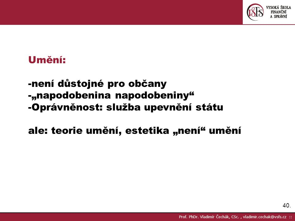 40.Prof. PhDr.