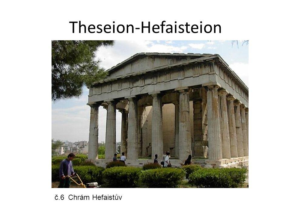 Theseion-Hefaisteion č.6 Chrám Hefaistův