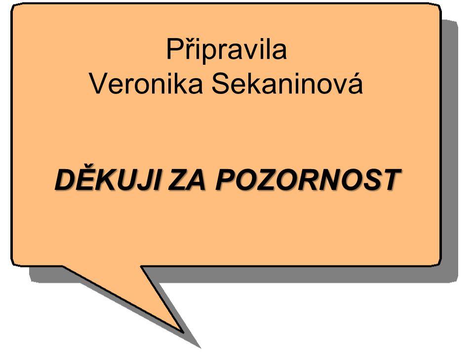Připravila Veronika Sekaninová DĚKUJI ZA POZORNOST