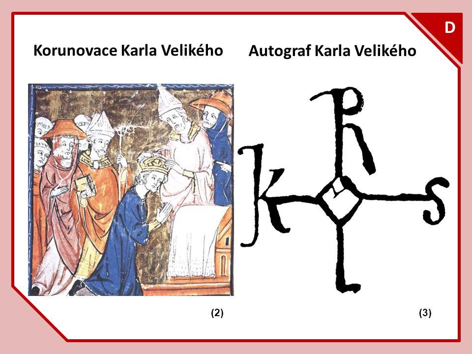 F D Korunovace Karla Velikého Autograf Karla Velikého (3)(2)
