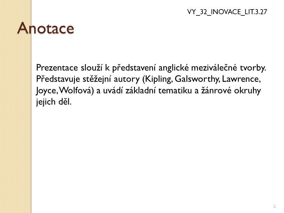 Literatura Velké Británie VY_32_INOVACE_LIT.3.27