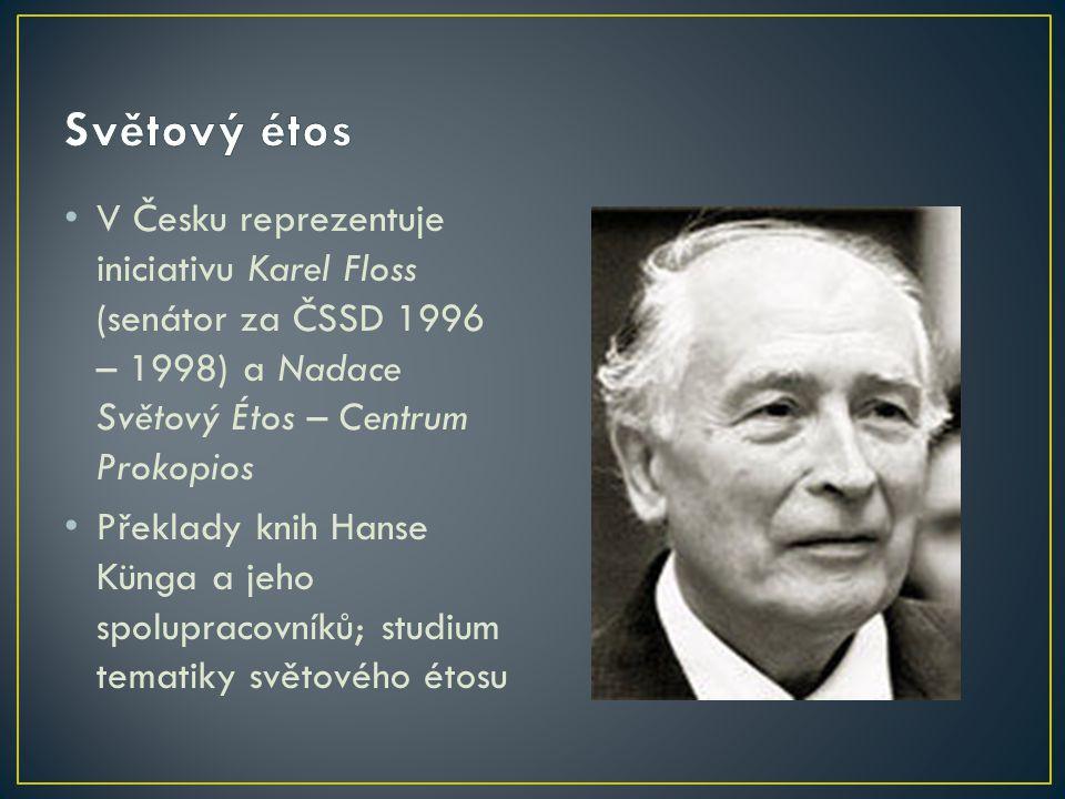 Iniciativu založil švýcarský katolický teolog žijící v Německu Hans Küng Bádání a osvěta ohledně mezináboženských vztahů Hledání společných etických podnětů pro politiku a hospodářství
