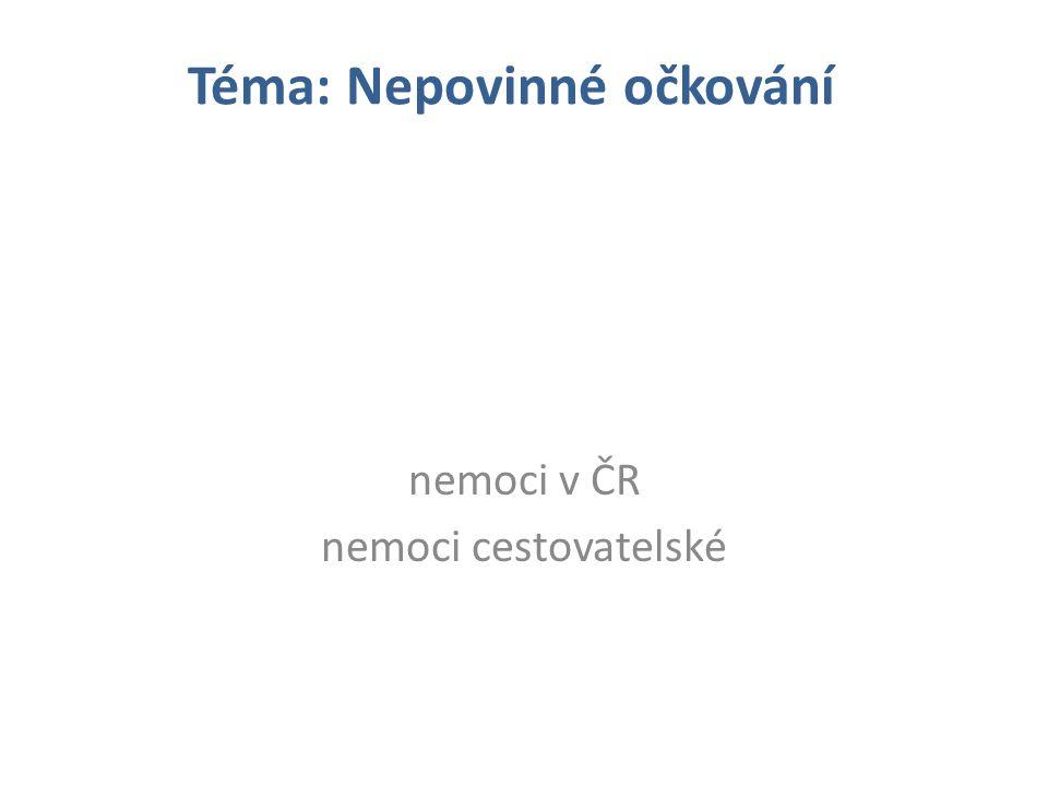 nemoci v ČR nemoci cestovatelské Téma: Nepovinné očkování