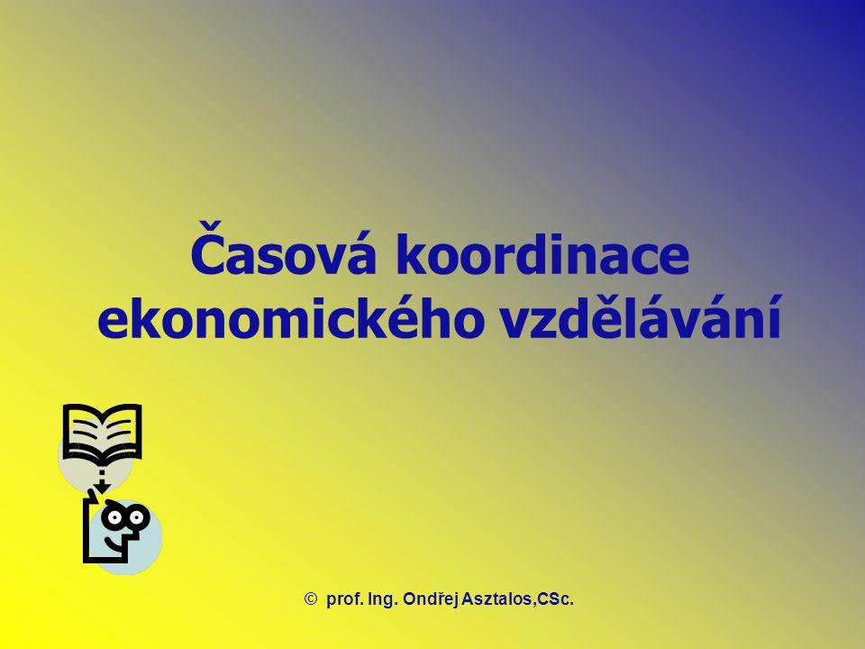 Časová koordinace ekonomického vzdělávání ©prof. Ing. Ondřej Asztalos,CSc.
