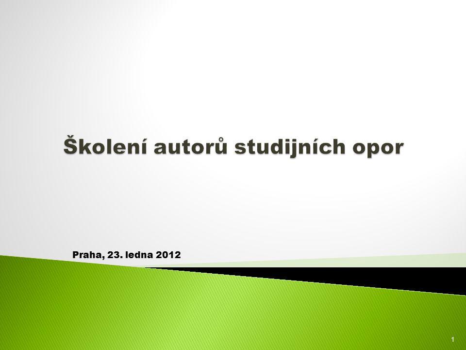 Praha, 23. ledna 2012 1