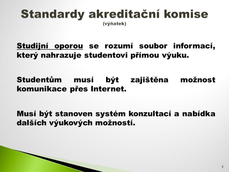 Studijní oporou se rozumí soubor informací, který nahrazuje studentovi přímou výuku.