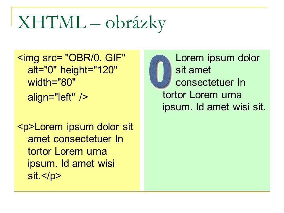 XHTML – obrázky <img src= OBR/0.