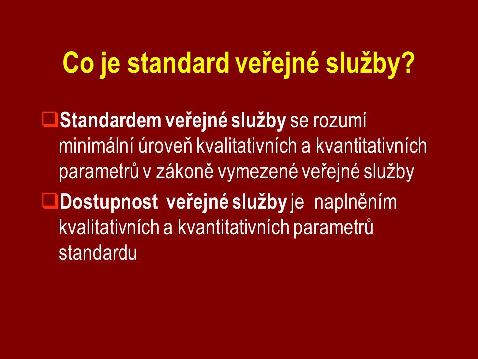 Co je standard veřejné služby.