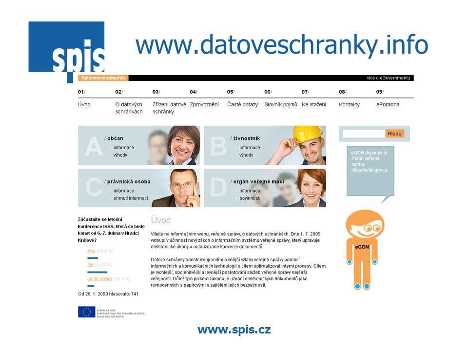 www.spis.cz www.datoveschranky.info