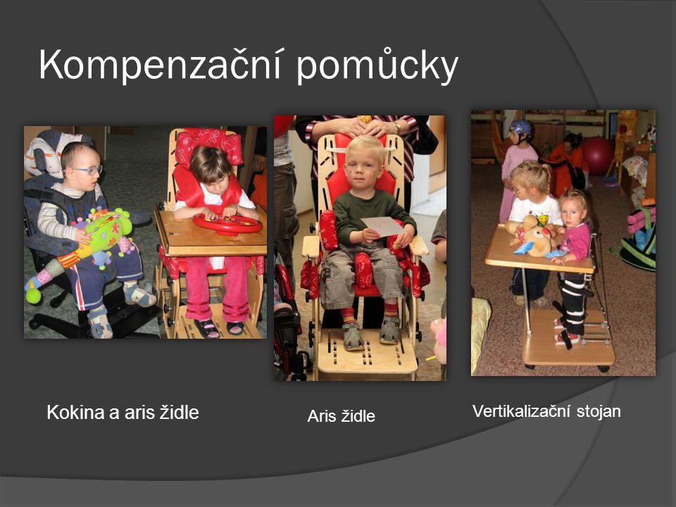 Kompenzační pomůcky Kokina a aris židle Aris židle Vertikalizační stojan