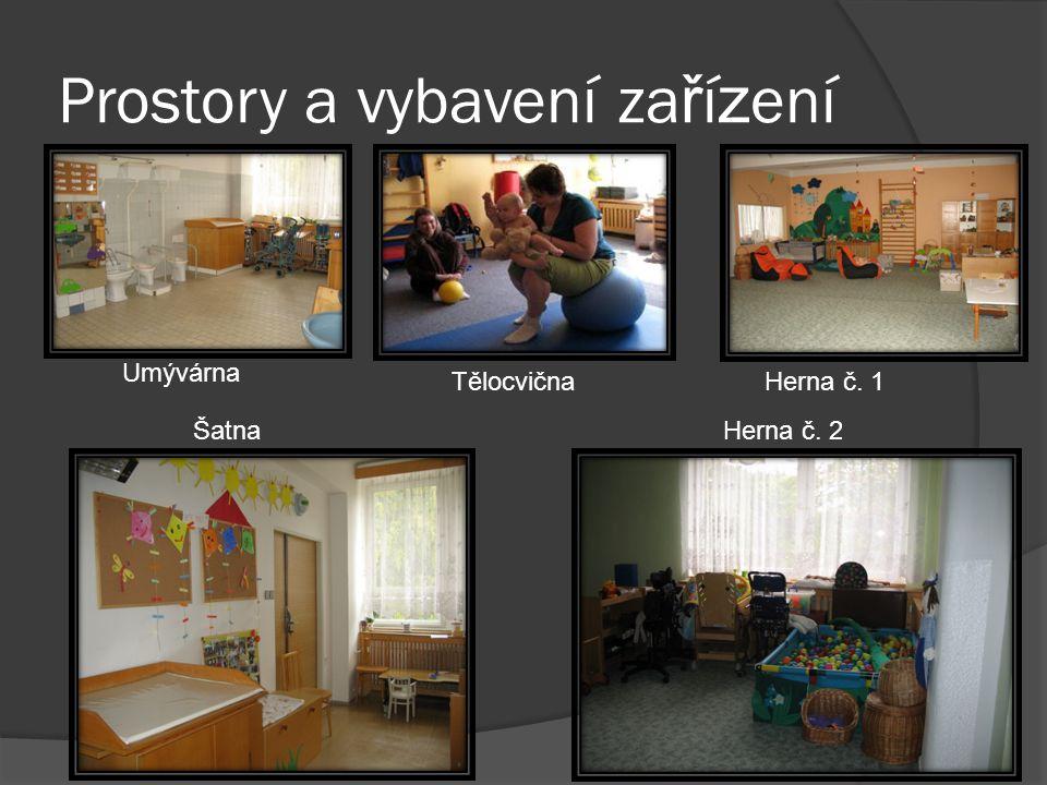 Prostory a vybavení za ř í z ení Umývárna Herna č. 1Tělocvična ŠatnaHerna č. 2
