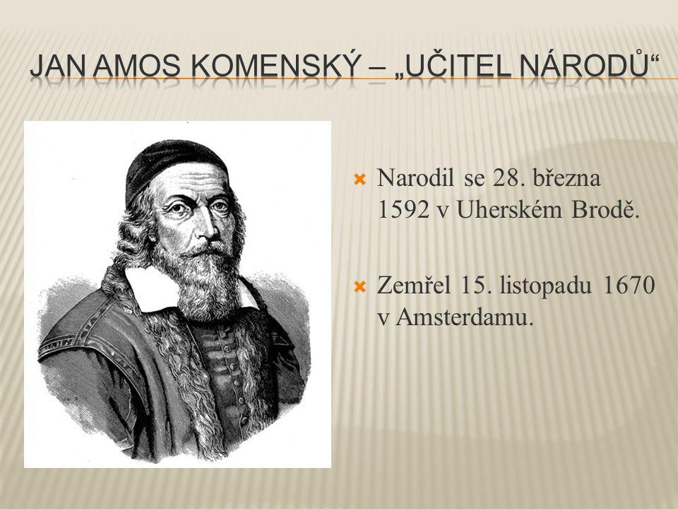  Narodil se 28. března 1592 v Uherském Brodě.  Zemřel 15. listopadu 1670 v Amsterdamu.