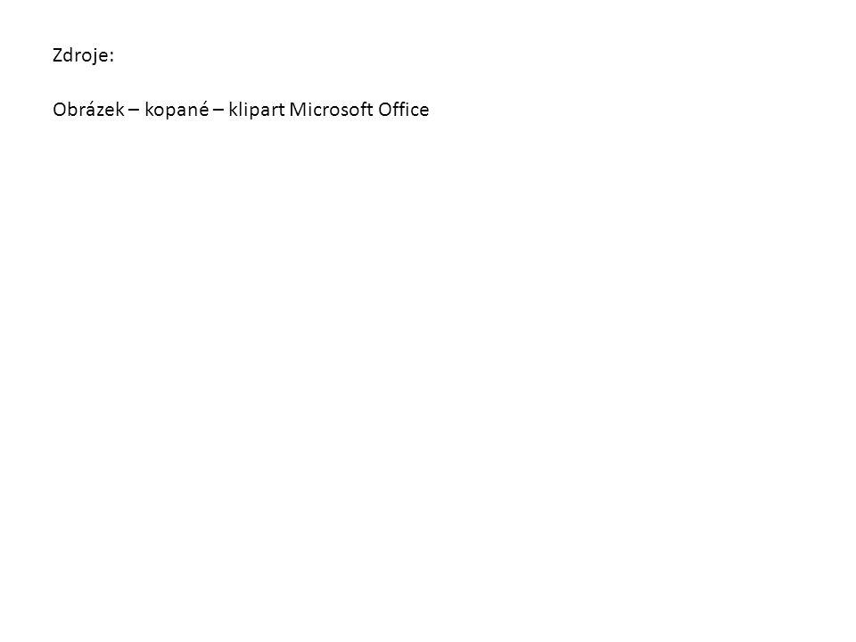 Zdroje: Obrázek – kopané – klipart Microsoft Office