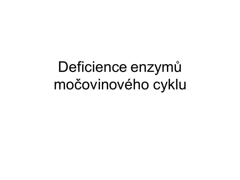Deficience enzymů močovinového cyklu