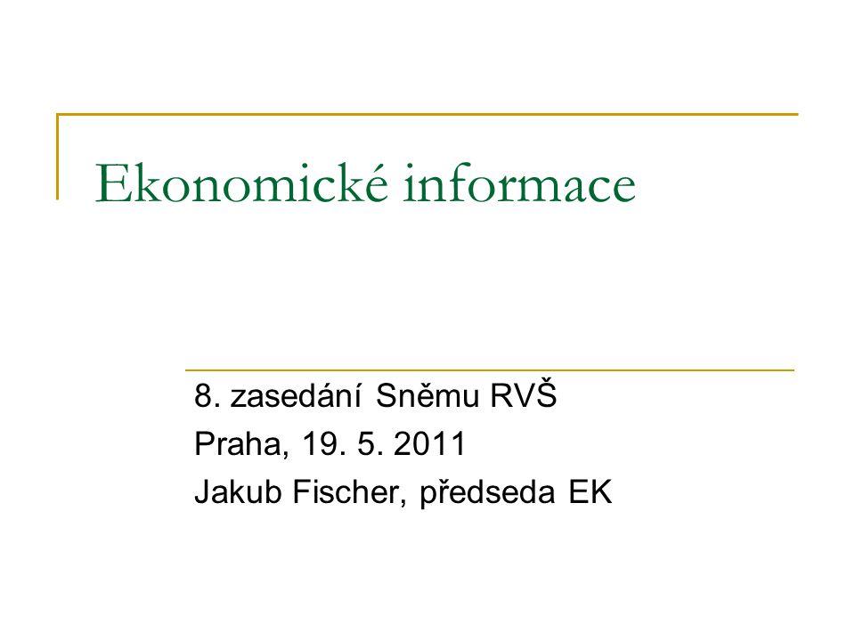 Ekonomické informace 8. zasedání Sněmu RVŠ Praha, 19. 5. 2011 Jakub Fischer, předseda EK