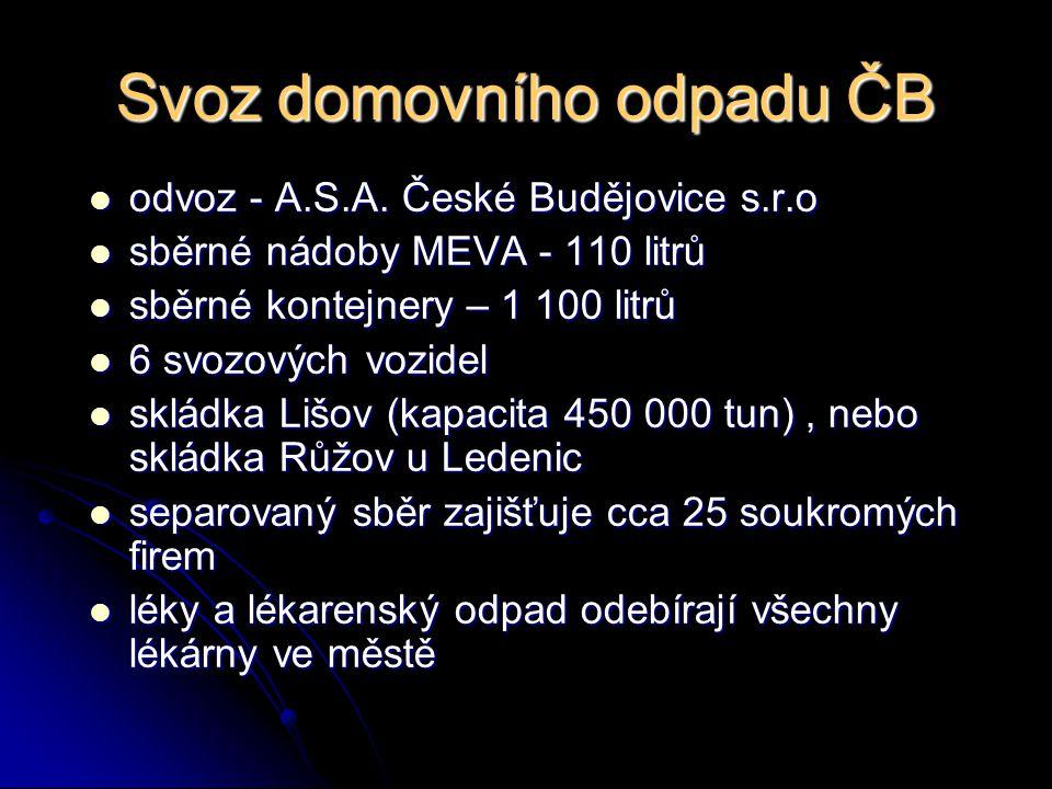 Svoz domovního odpadu ČB odvoz - A.S.A. České Budějovice s.r.o odvoz - A.S.A. České Budějovice s.r.o sběrné nádoby MEVA - 110 litrů sběrné nádoby MEVA