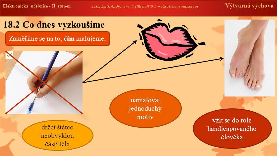 Elektronická učebnice -II. stupeň Základní škola Děčín VI, Na Stráni 879/2 – příspěvková organizace Výtvarná výchova 18.2 Co dnes vyzkoušíme Elektroni