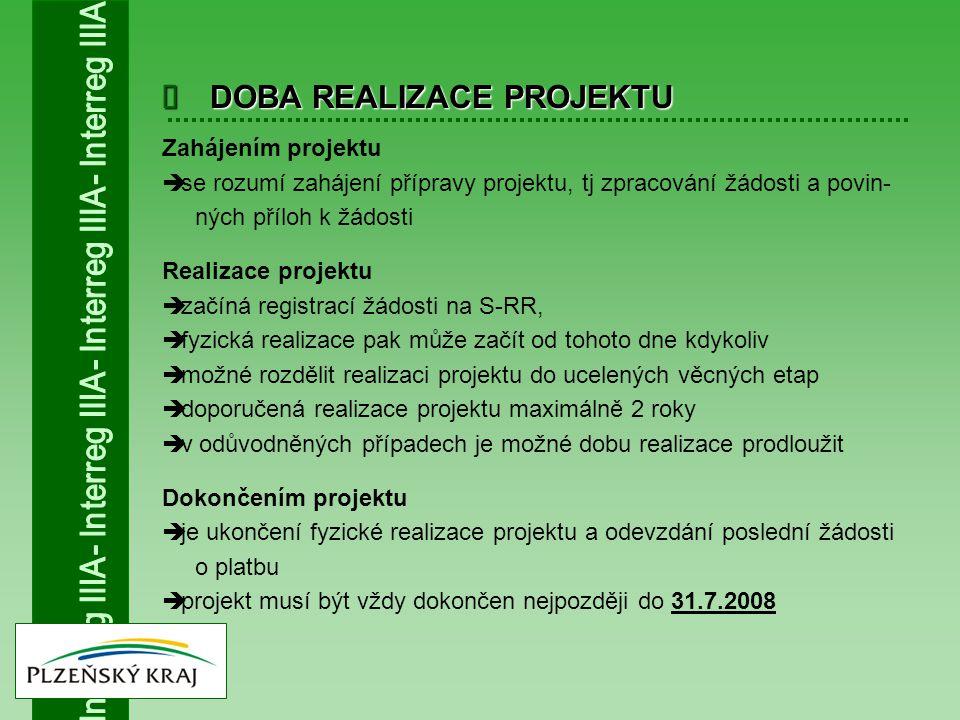  Zahájením projektu  se rozumí zahájení přípravy projektu, tj zpracování žádosti a povin- ných příloh k žádosti Realizace projektu  začíná registra