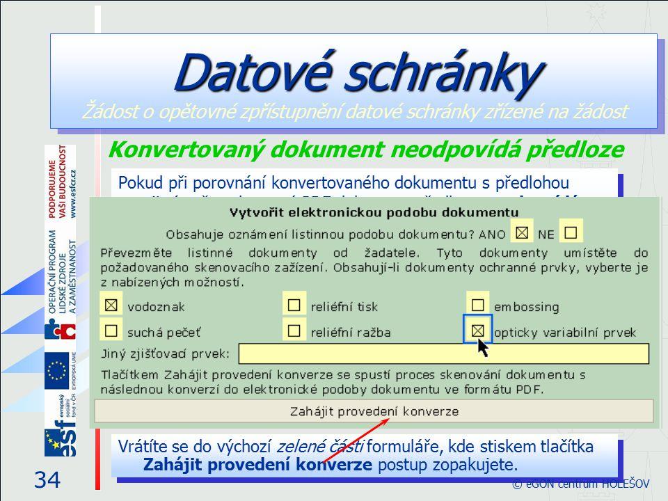 Pokud při porovnání konvertovaného dokumentu s předlohou zjistíte, že zobrazený PDF dokument předloze neodpovídá (například je příliš tmavý nebo vykaz