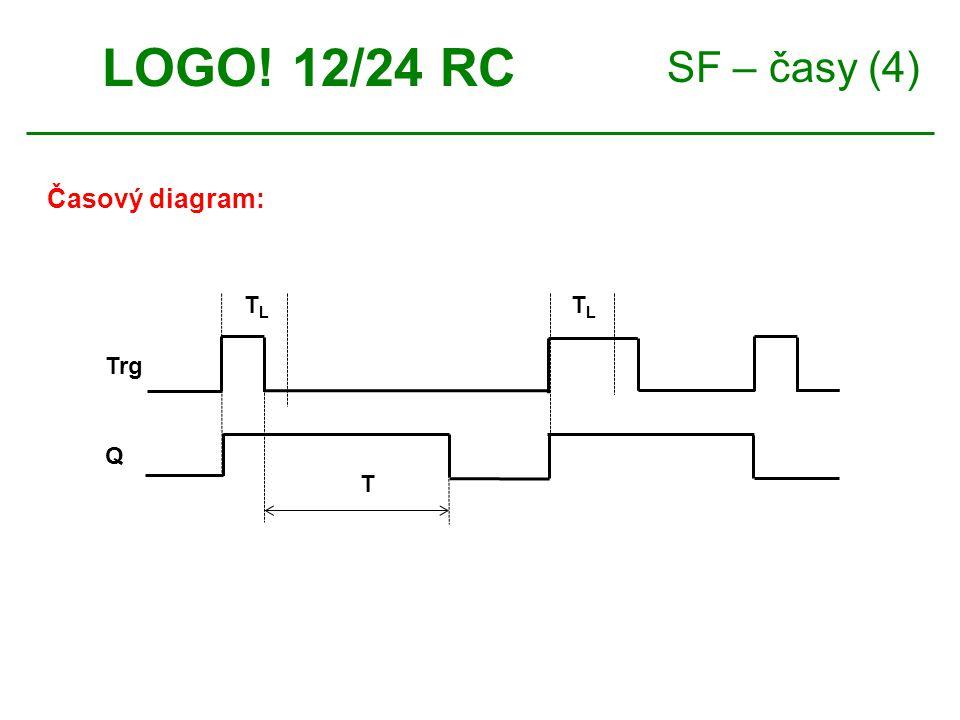 SF – časy (4) LOGO! 12/24 RC Časový diagram: TLTL TLTL Trg Q T