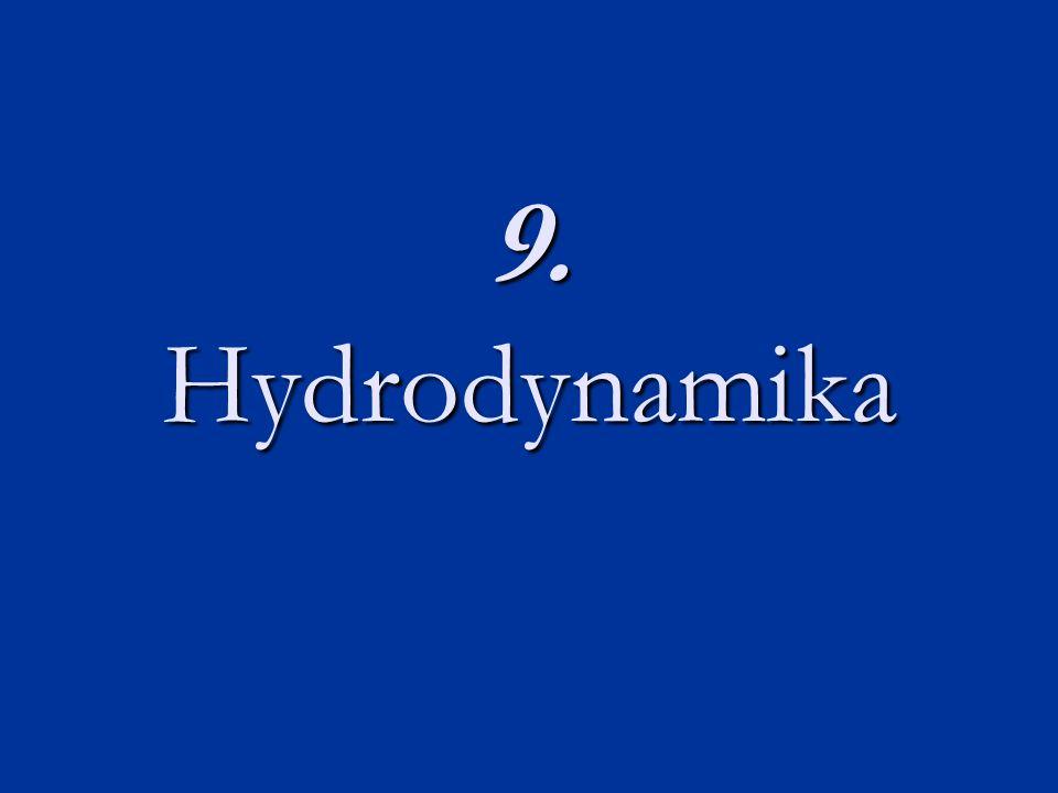 Hydrodynamika Obor spadající pod hydromechaniku (mechaniku tekutin), který se zabývá mechanickými pohybem (prouděním) kapalin.