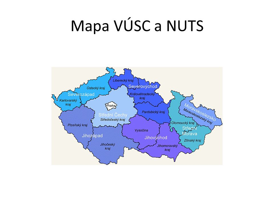 Mapa VÚSC a NUTS