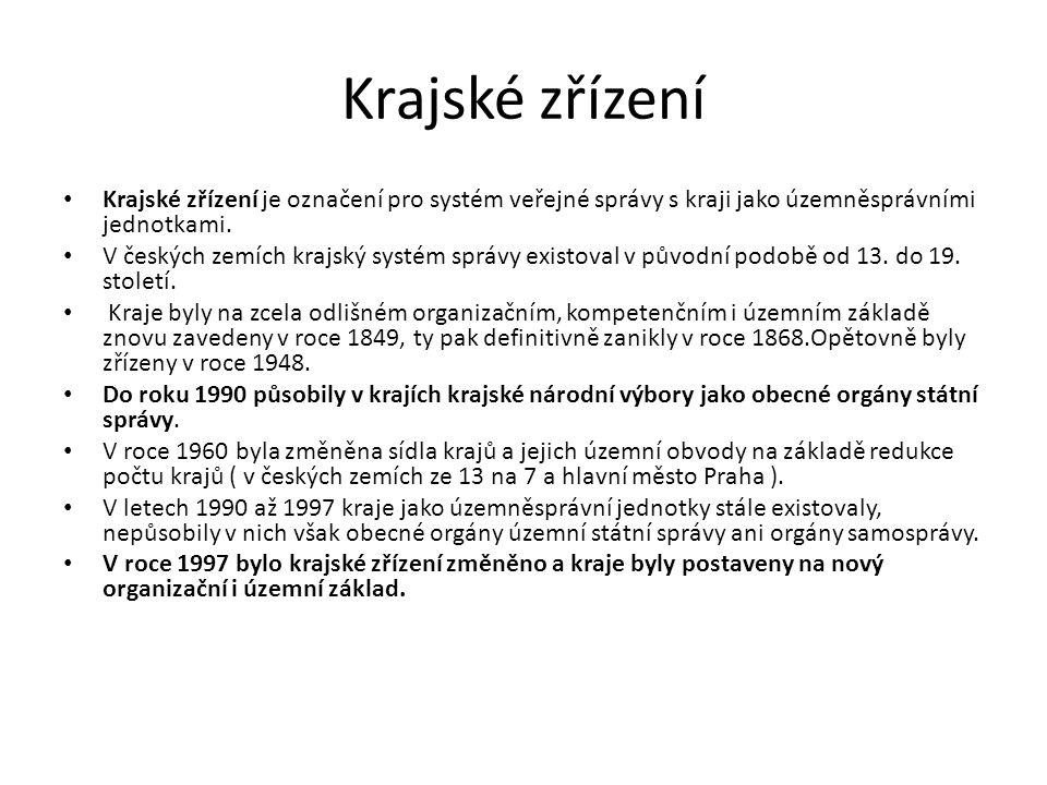 Krajské zřízení Krajské zřízení je označení pro systém veřejné správy s kraji jako územněsprávními jednotkami. V českých zemích krajský systém správy