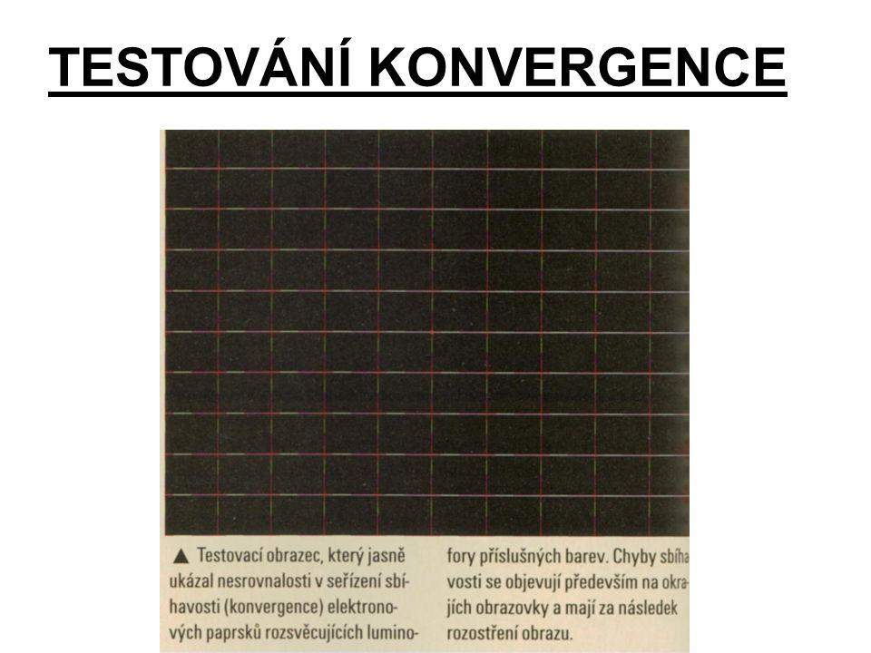 TESTOVÁNÍ KONVERGENCE