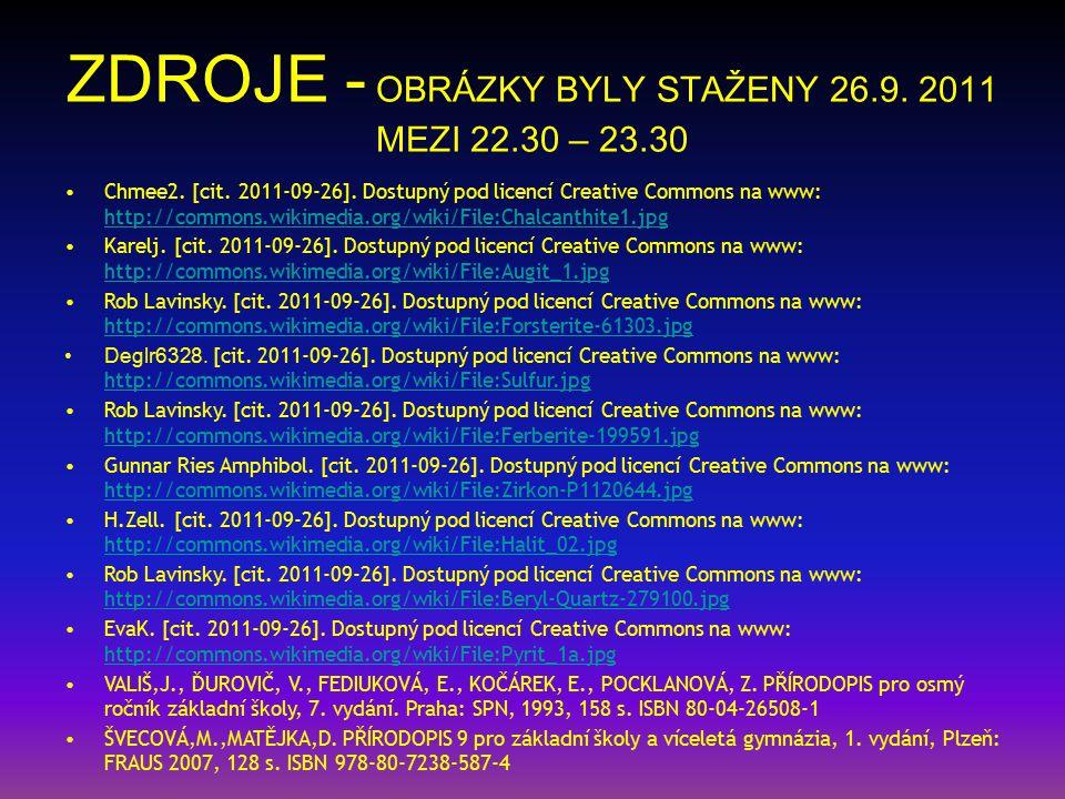 ZDROJE - OBRÁZKY BYLY STAŽENY 26.9.2011 MEZI 22.30 – 23.30 Chmee2.