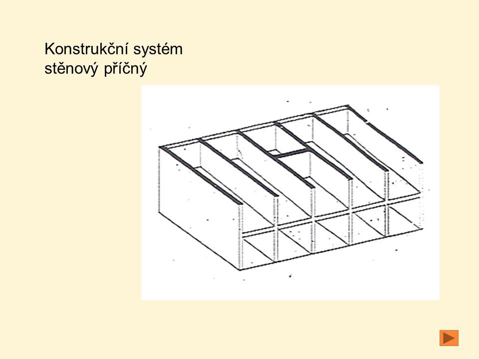 Konstrukční systém stěnový příčný