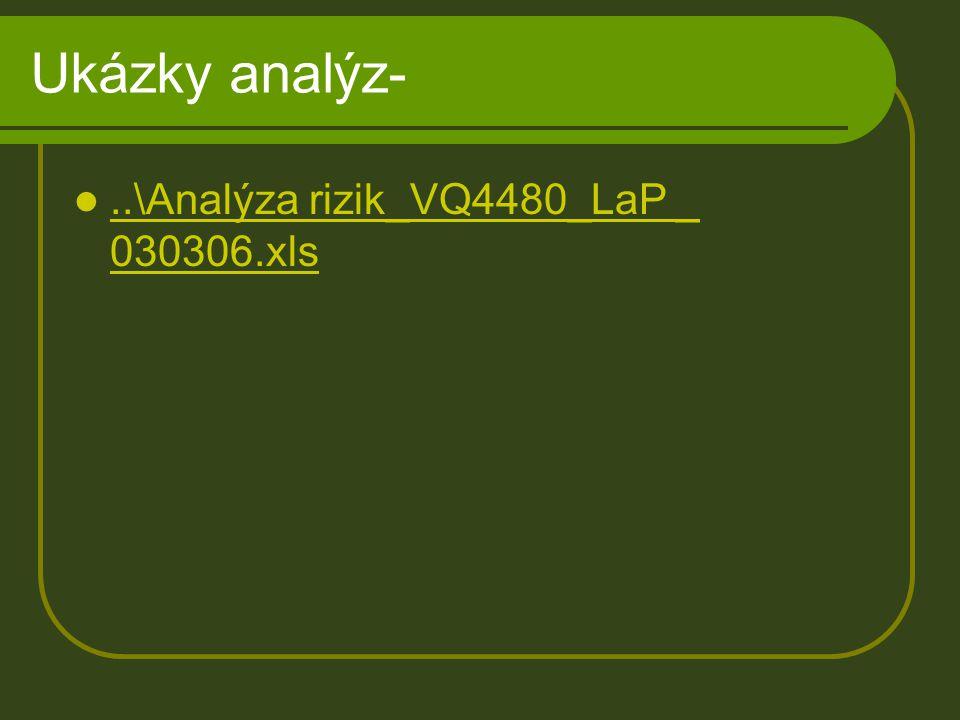 Ukázky analýz-..\Analýza rizik_VQ4480_LaP _ 030306.xls..\Analýza rizik_VQ4480_LaP _ 030306.xls
