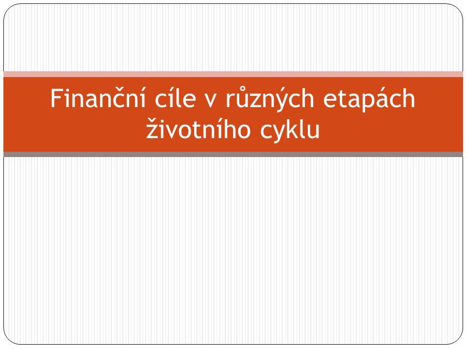 Finanční cíle v různých etapách životního cyklu